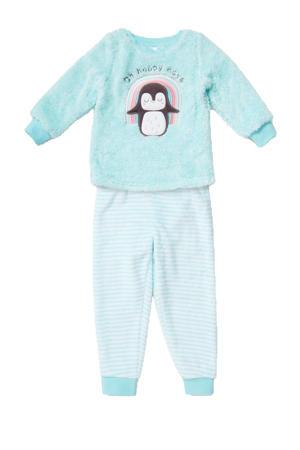 pyjama lichtblauw/wit/roze
