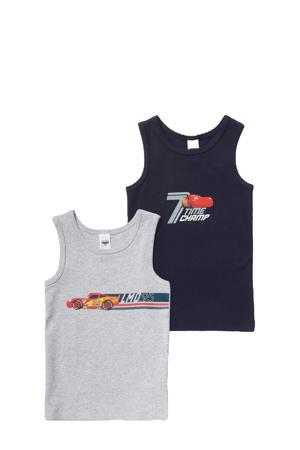 hemd - set van 2 donkerblauw/grijs
