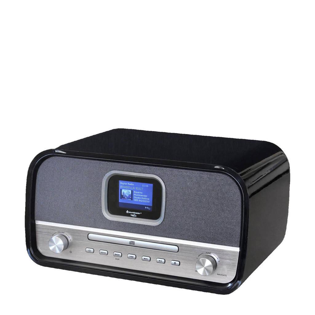 Soundmaster NMCDAB990 DAB+ radio, Zwart, zilver