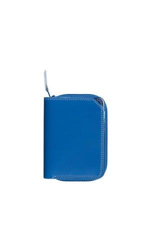 Ladies Small Wallet w/Zip Around Purse blauw