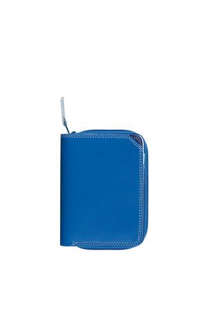 leren portemonnee Small blauw