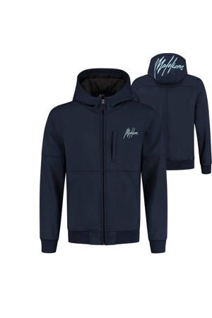 softshell zomerjas met logo donkerblauw