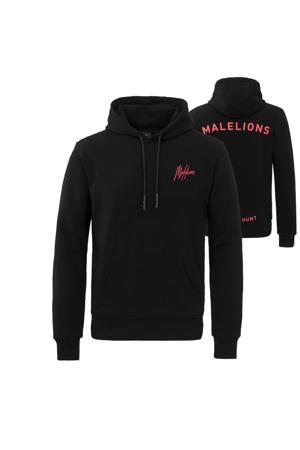 Malelions hoodie met logo zwart