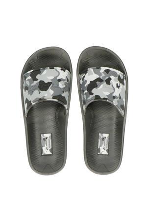 slippers zwart/grijs