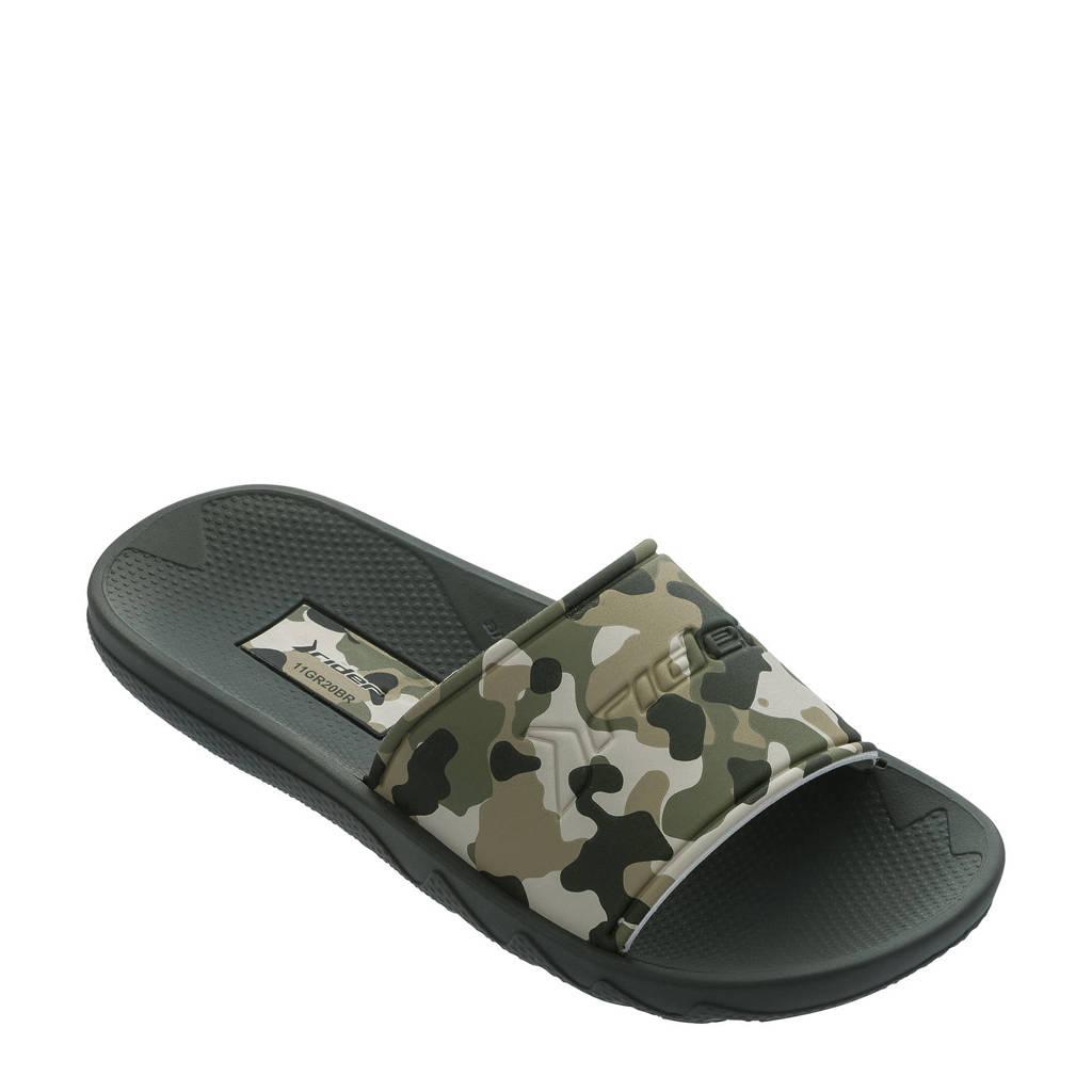 Rider   slippers groen/beige, Groen/beige