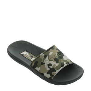slippers groen/beige