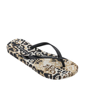 I Love Safari  teenslippers beige zwart
