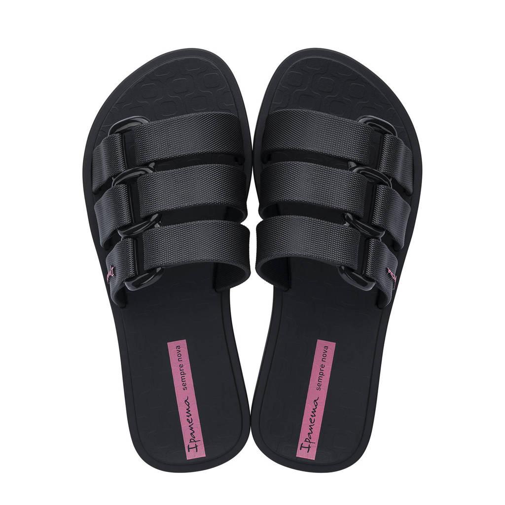 Ipanema Bold  slippers zwart, Zwart
