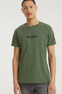 Redefined Rebel T-shirt Guti met logo groen, Groen
