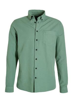 slim fit overhemd Robbins groen