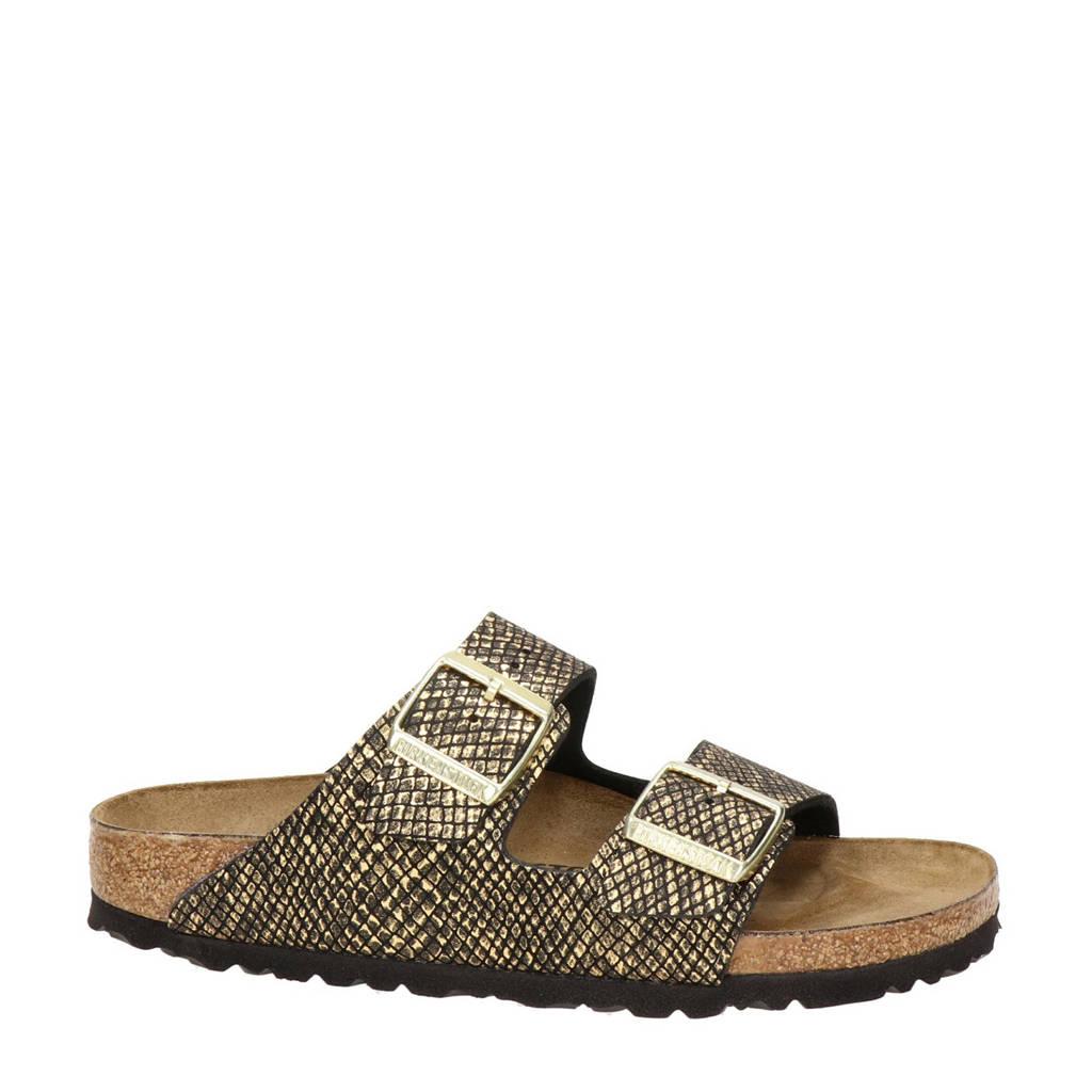 Birkenstock Arizona  slippers goud, Goud