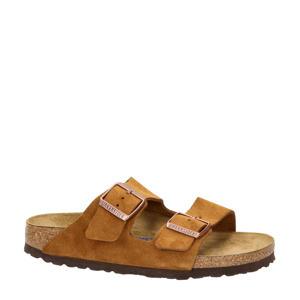 Arizona  suède slippers cognac