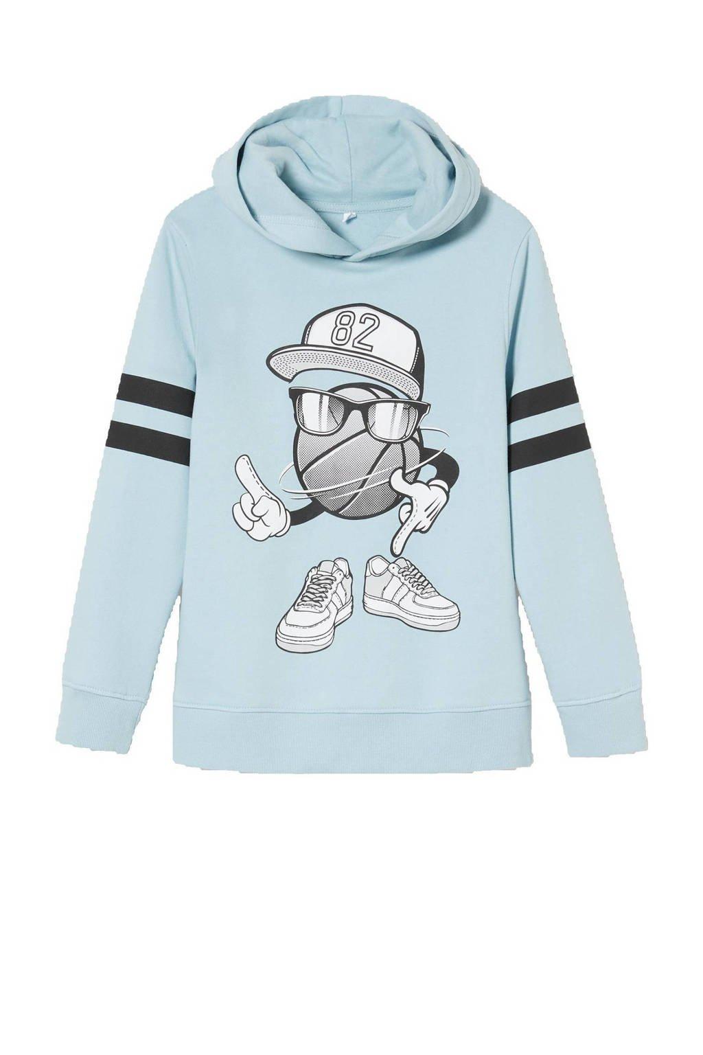 C&A Here & There hoodie met printopdruk mintgroen, Mintgroen