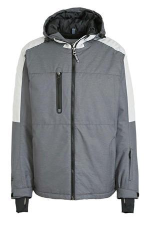 ski-jack grijs/wit