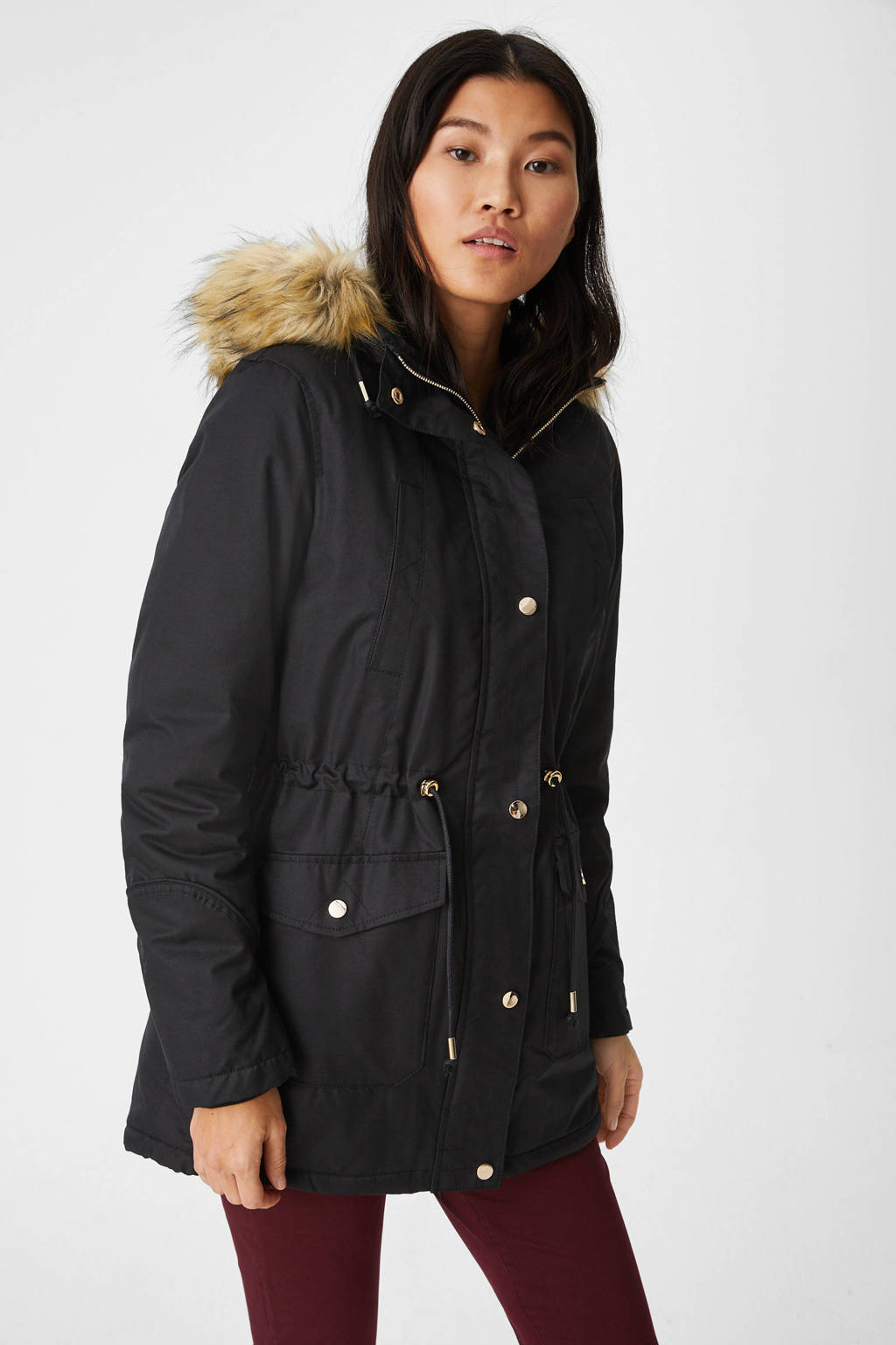 C&A The Outerwear parka zwart, Zwart