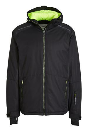 ski-jack zwart/blauw