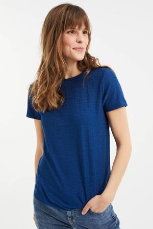 T-shirt met jacquard river blue