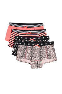 WE Fashion hipster - set van 4 multi color, Roze