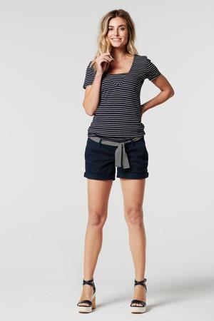 low waist regular fit short Edgewood donkerblauw