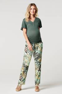 Noppies low waist regular fit zwangerschapsbroek Eloy met all over print multicolor, Multicolor