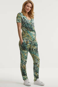 Noppies zwangerschaps- en voedingjumpsuit Emery met all over print multicolor, Multicolor