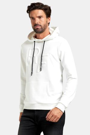 hoodie Austin met logo wit