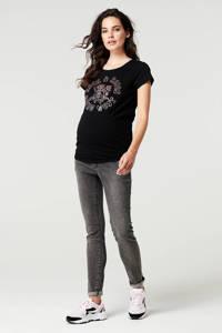 Supermom zwangerschapstop Rock met printopdruk zwart, Zwart
