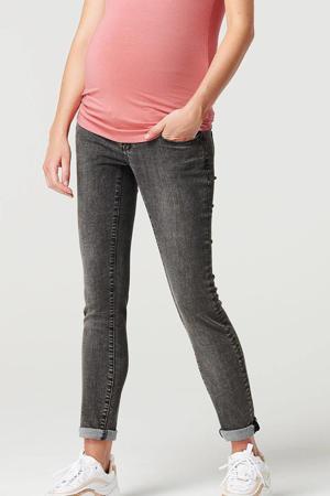low waist skinny zwangerschapsjeans grijs stonewashed