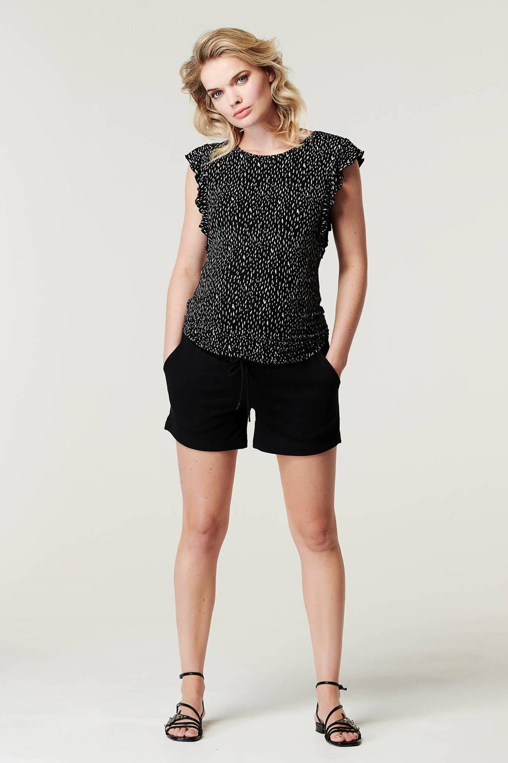 Supermom regular fit short zwart, Zwart