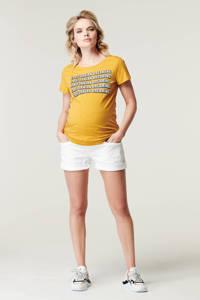 Supermom zwangerschapsshirt met tekst geel, Geel