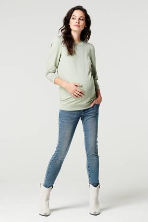low waist skinny zwangerschapsjeans stonewashed