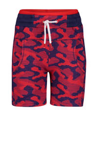 4PRESIDENT regular fit sweatshort Jared met all over print rood/donkerblauw, Rood/donkerblauw