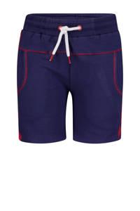 4PRESIDENT regular fit sweatshort Fabian donkerblauw/rood, Donkerblauw/rood