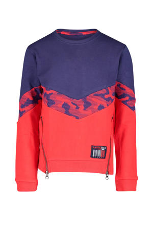 sweater Colson rood/donkerblauw