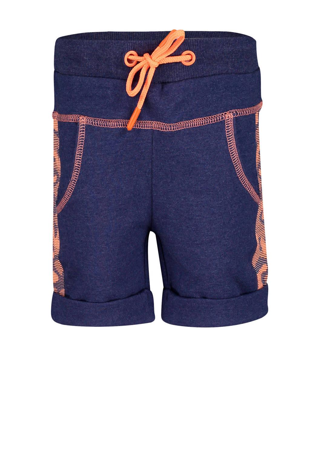 4PRESIDENT regular fit sweatshort Ivan donkerblauw/oranje, Donkerblauw/oranje