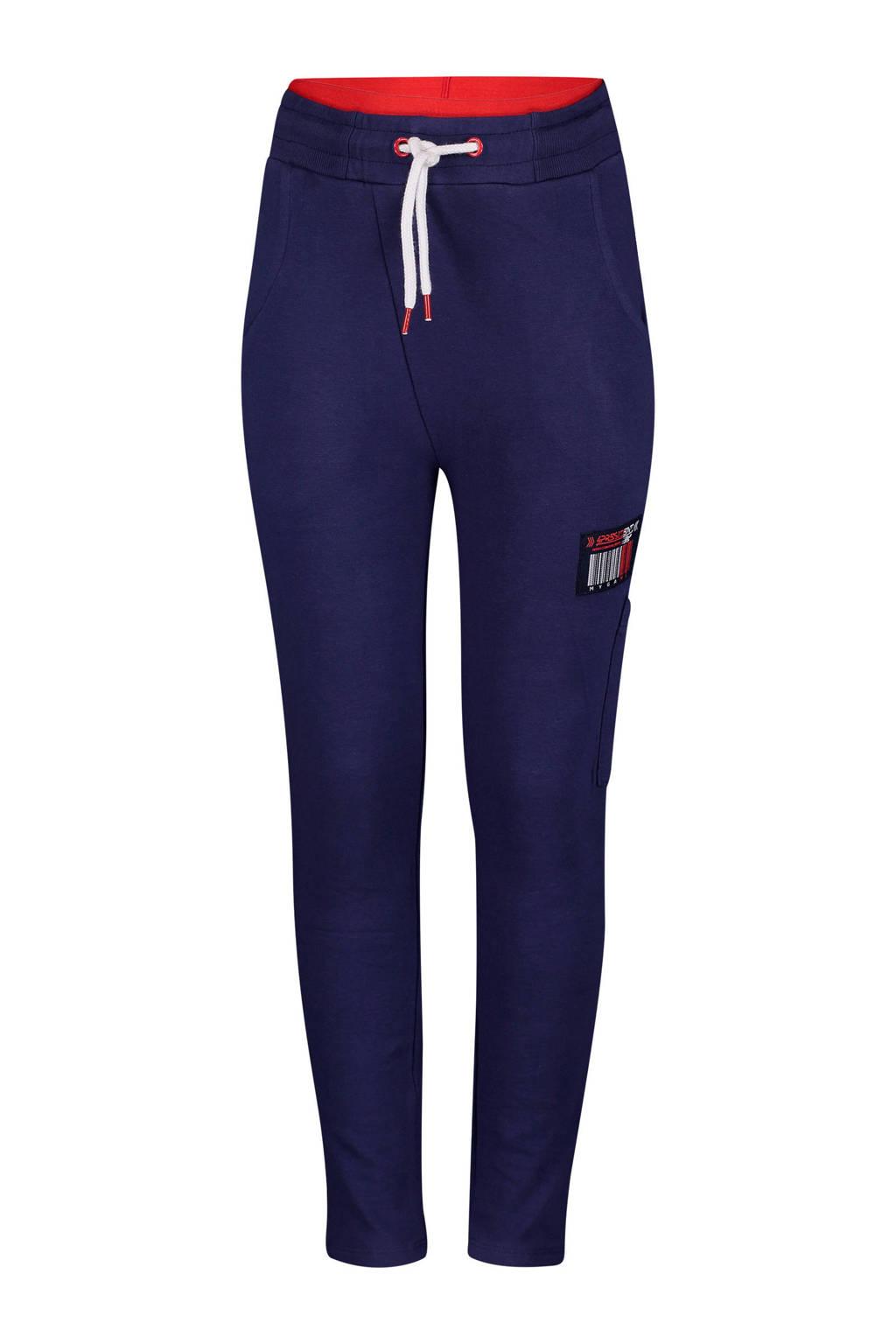 4PRESIDENT tapered fit joggingbroek Dariel donkerblauw/rood, Donkerblauw/rood