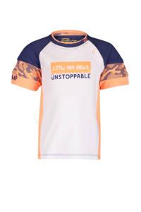 4PRESIDENT T-shirt Tristan wit/oranje/donkerblauw, Wit/Oranje/Donkerblauw
