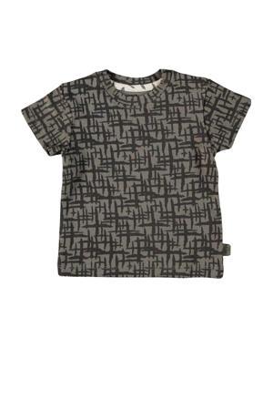 baby T-shirt Lane met all over print antraciet