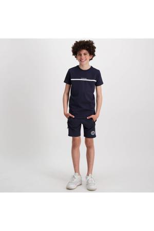 T-shirt Notch met logo donkerblauw/wit