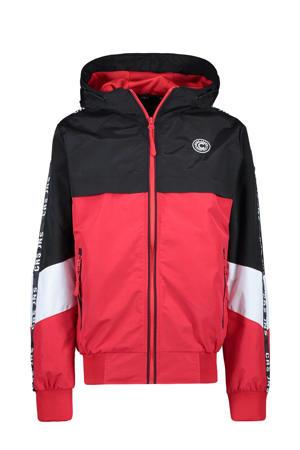zomerjas Xavo met contrastbies rood/zwart/wit