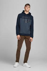 JACK & JONES CORE hoodie met logo donkerblauw, Donkerblauw