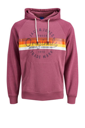 hoodie met logo roze