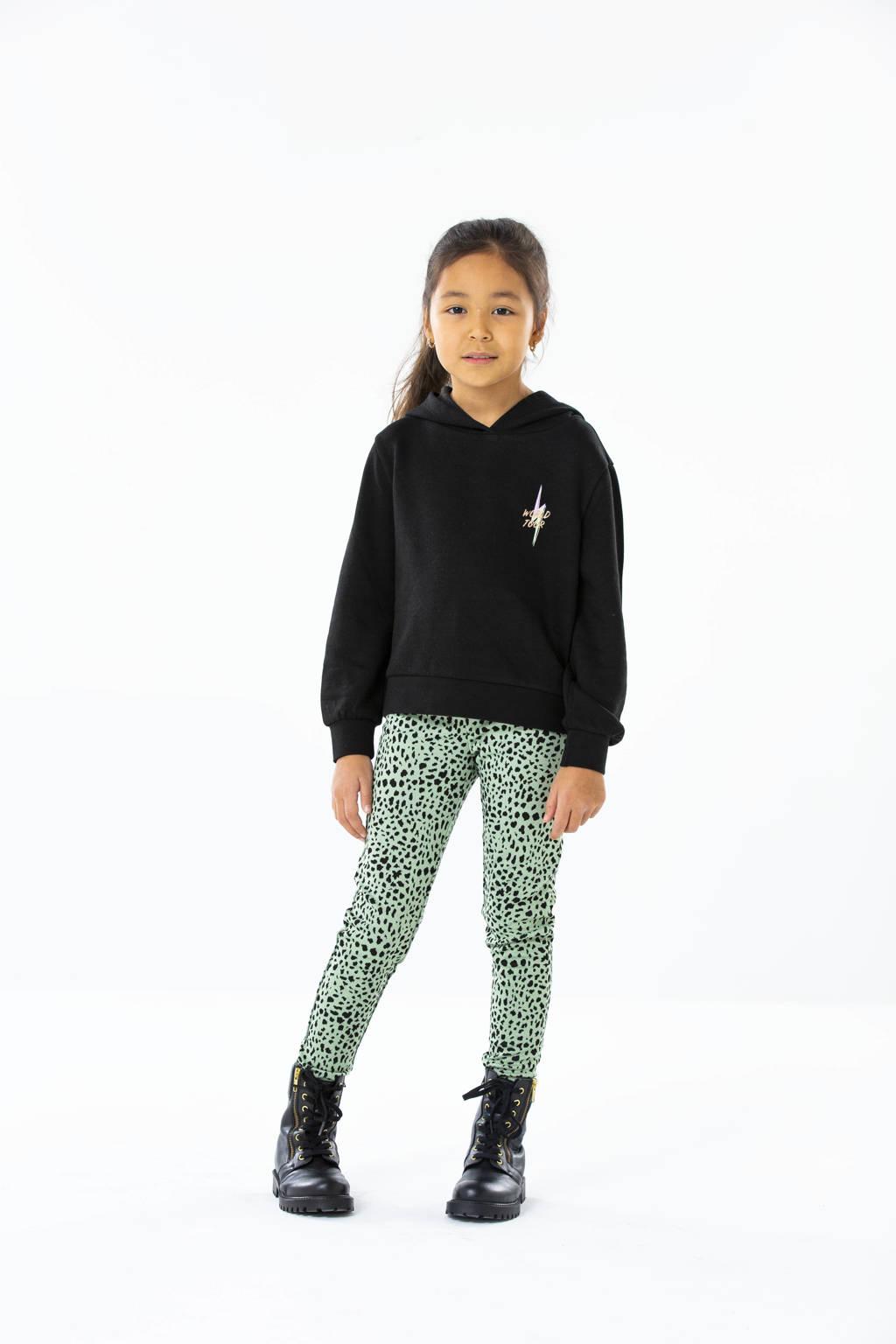 KIDS ONLY broek Crystal met all over print groen/zwart, Groen/zwart