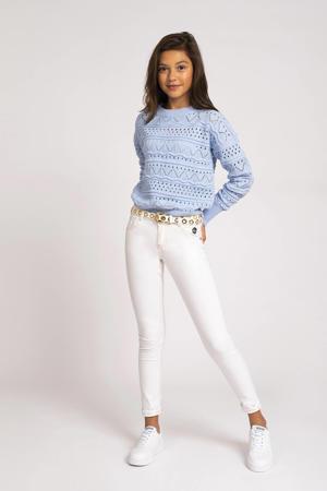 fijngebreide trui Anka lichtblauw