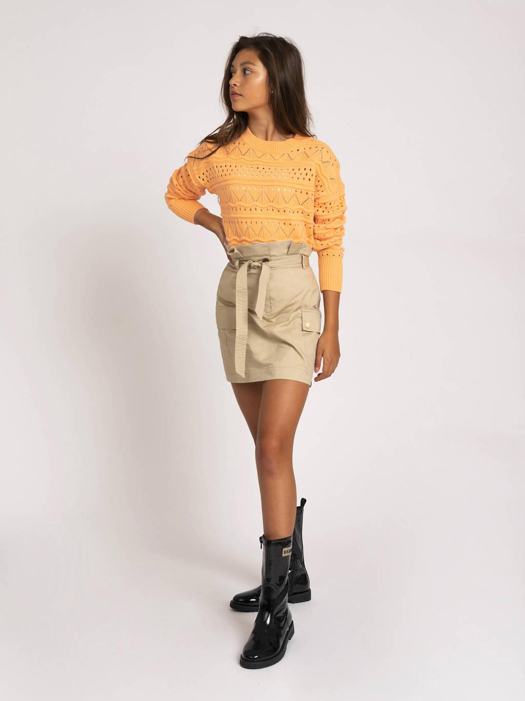 NIK&NIK fijngebreide trui Anka oranje, Oranje