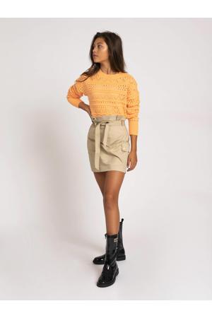 fijngebreide trui Anka oranje