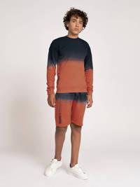NIK&NIK dip-dye sweater August oranjerood/blauw, Oranjerood/blauw