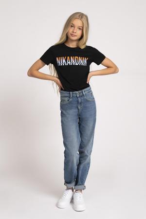 T-shirt Annika met logo zwart
