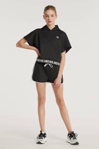 NIK&NIK sweatshort Lena met zijstreep zwart, Zwart