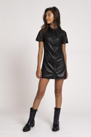 imitatieleren jurk Taylor zwart